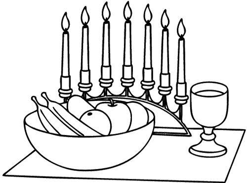 Kwanzaa Candles Coloring Page