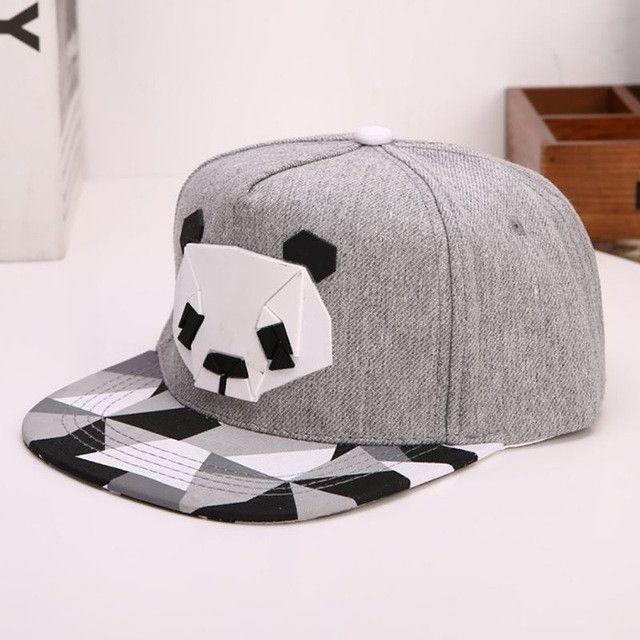 6 Style Panda Adjustable Unisex Hip Hop Bboy Baseball Hat Snapback Cap Men  Women Outdoors Beach Caps 816ae2a69cf4