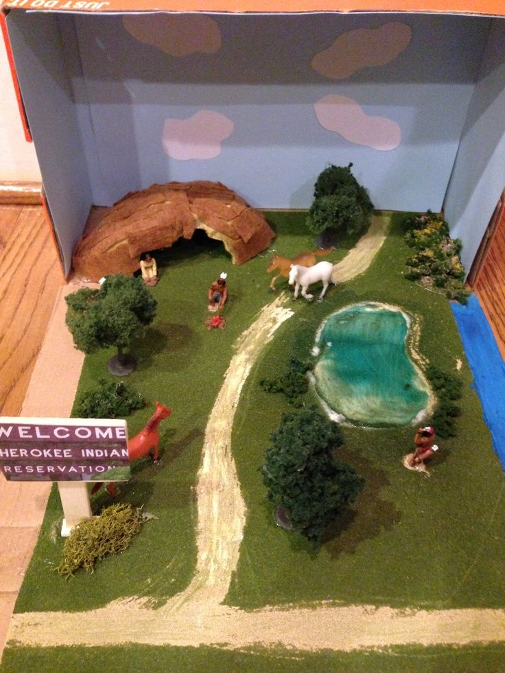 Creek indians diorama google search school activities for House projects