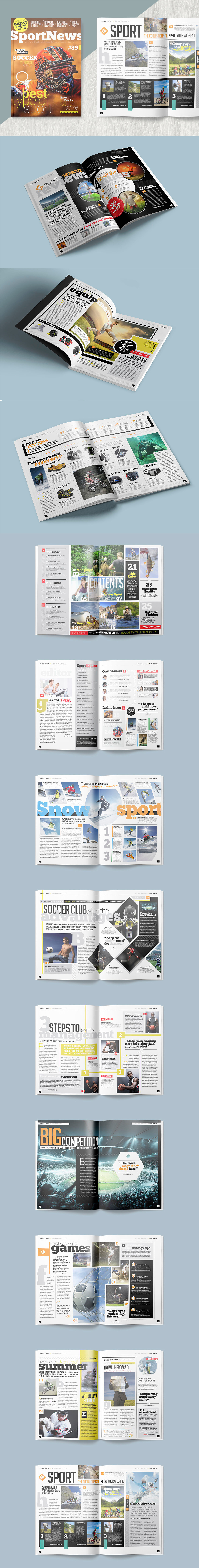 Magazine Template InDesign INDD - 25 Pages, 3 Magazine Covers ...