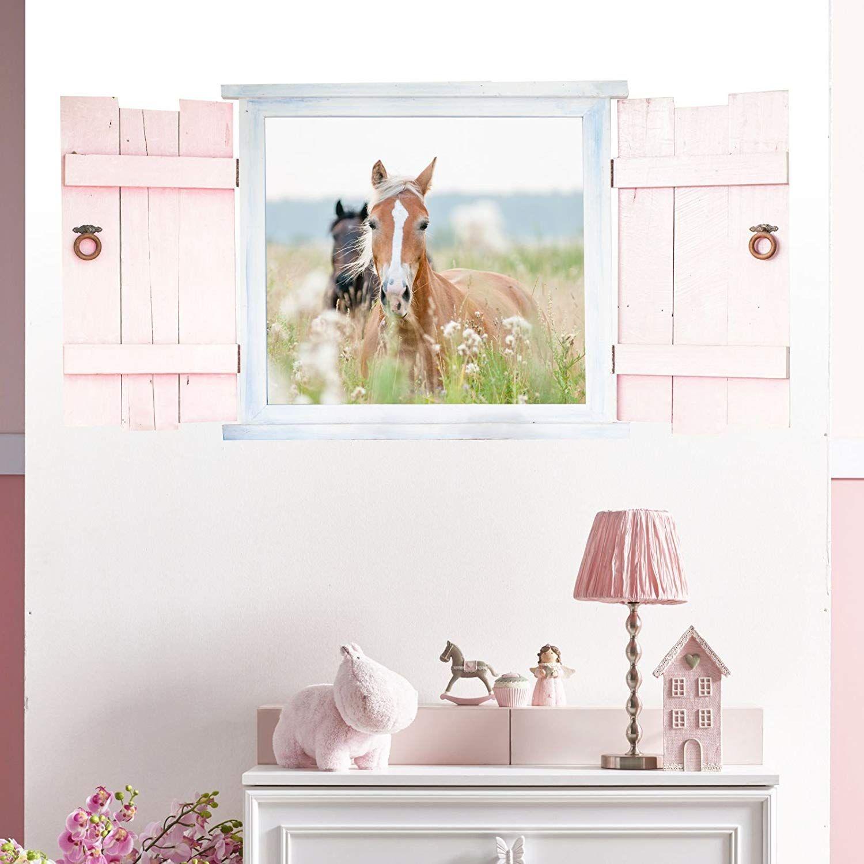 Wandtattoo Pferde Im Fenster Mit Fensterladen In 6 Grossen Wunderschone Kinderzimmer Madchen Pferde Zimmer Kinder Zimmer Wandgestaltung Kinderzimmer Madchen