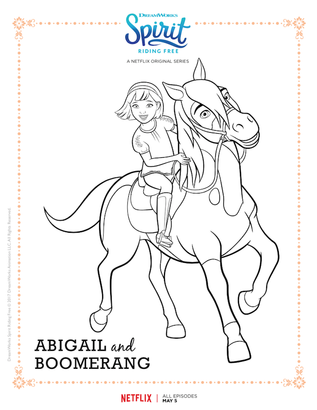 Spirit Riding Free Mother Daughter Movie Night Cotton Candy Popcorn Recipe Horse Coloring Pages Free Coloring Pages Horse Coloring