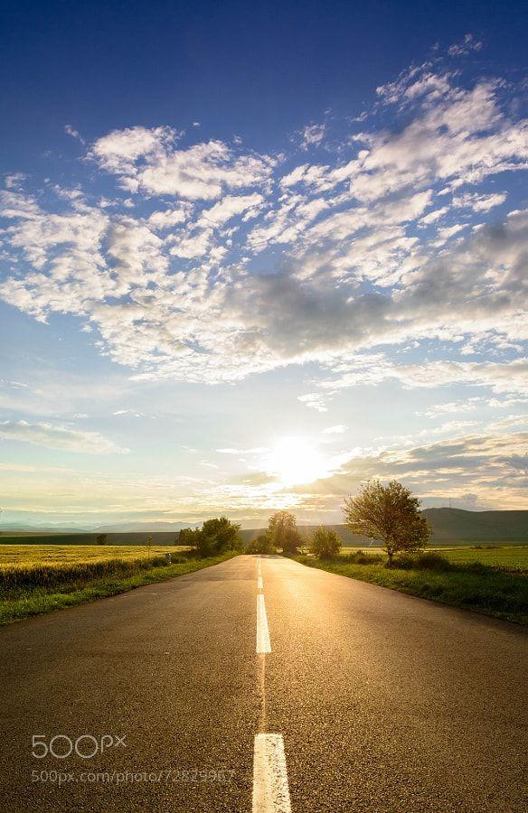 Sunset Road by DanielBlaj