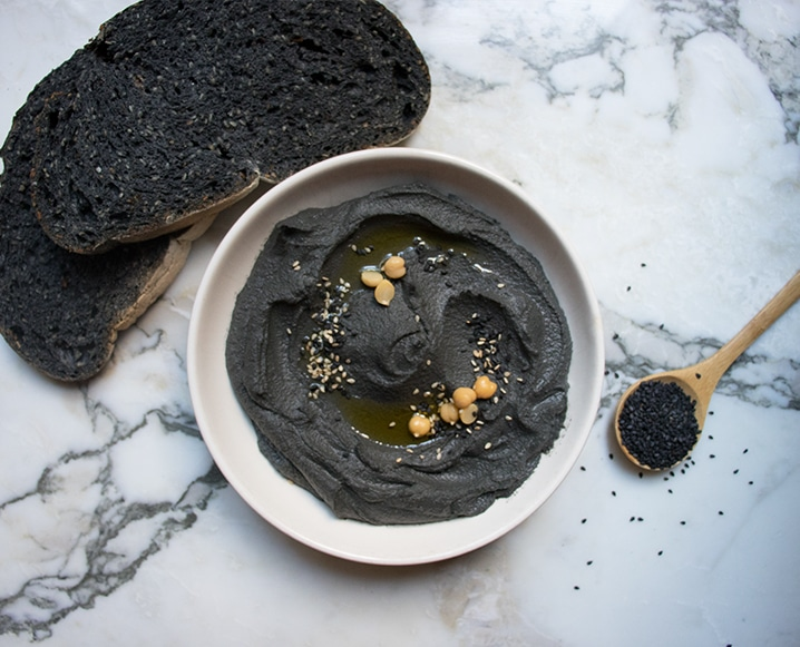 We're Living For This Chic Black Hummus From Paris