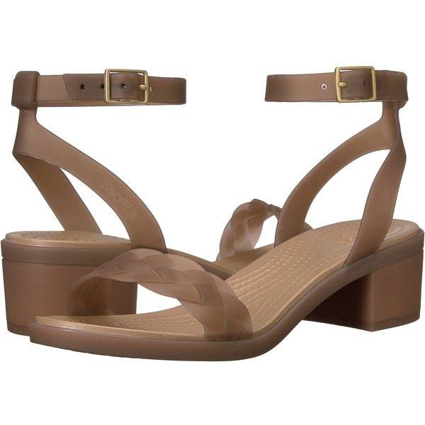 1b10995cbc4a Crocs Isabella Block Heel (Bronze Gold) Women s Shoes ( 60) ❤ liked ...