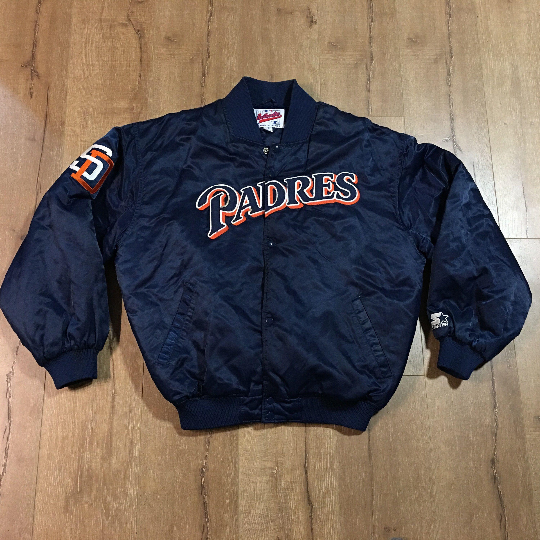 Vintage MLB Starter San Diego Padres Baseball Button Bomber Jacket Mens XL  by MadFresh on Etsy 1b3b3cd6f