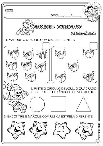 Atividade Avaliativa 2 Semestre Matematica Educacao Infantil Jpg