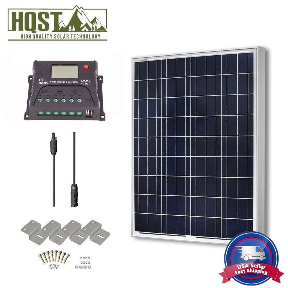 100 Watt 12 Volt Solar Panel Kit W Controller 100w 12v Battery Charger Off Grid Outdoors Kits Kit Camping Solar Kit Solar Panel Kits 12 Volt Solar Panels