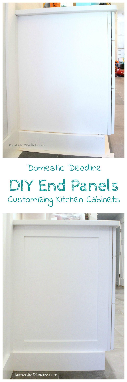 DIY Cabinet End Panels  Domestic Deadline  Kitchen units decor