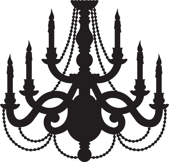 Chandelier Svg Digital Cut File Graphic Vector Image