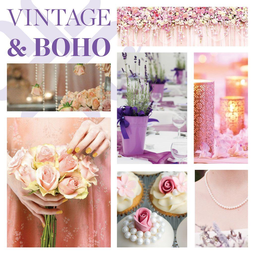 Wedding Nails - Jamberry - Vintage & Boho - stripes, polka dots, chevron, oh my!    nails, manicure, prom, wedding, bride, bridesmaid, flower girl http://lindsaythiel.jamberrynails.net/