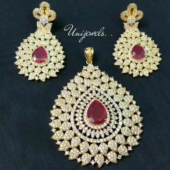1 gram gold ad ruby stone pendant set ready stock 1 gram gold 1 gram gold ad ruby stone pendant set ready stock aloadofball Image collections