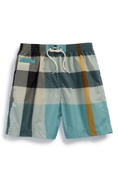 c97290952b5e8 Burberry Check Swim Shorts (Baby Boys) available at #Nordstrom ...