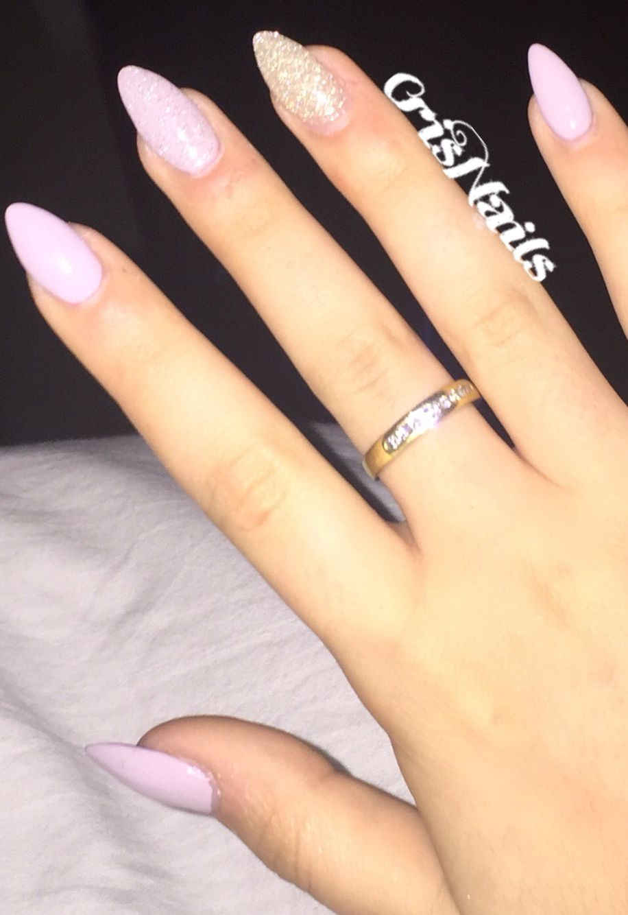 nail nails unghie unghiegel gel ricostruzione lilla viola