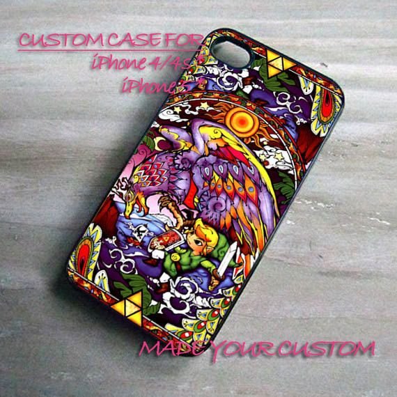 The Legend Of Zelda Stained Glass, iPhone 4 Case, iPhone 4s Case, iPhone 5 Case, Samsung Galaxy S3 i9300, Samsung Galaxy S4 i9500