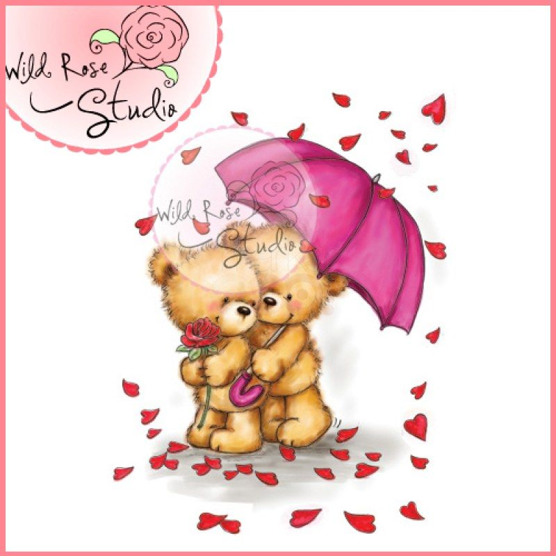 Wild Rose Studio Clear Stamp Raining Roses Wild Roses Clear Stamps Whimsical Paintings