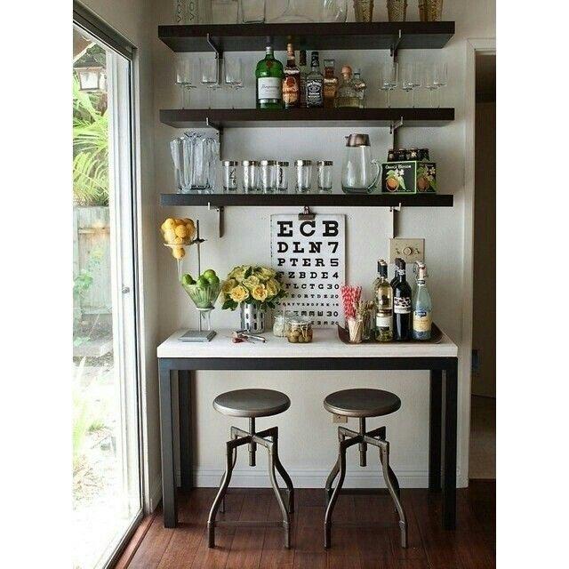 Kitchen Bar Against Wall: Идея для кухни