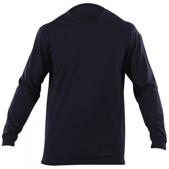 Purpose BuiltThe Professional Long Sleeve T is designed to provide a superior fit and professional profile while retaining the easy wearability and comfort of a traditional t-shirt. Crafted from 6 oz. ring spun cotton for superior breathability and lasting resilience, the Long Sleeve Professional T offers a no-roll high density collar for a clean, neat appearance, a spandex ribbed crew neck for a secure, flexible fit, and our trademark 5.11 pen pockets on the left sleeve. Moisture wicking…