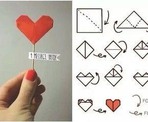 #origami coração (notitle)