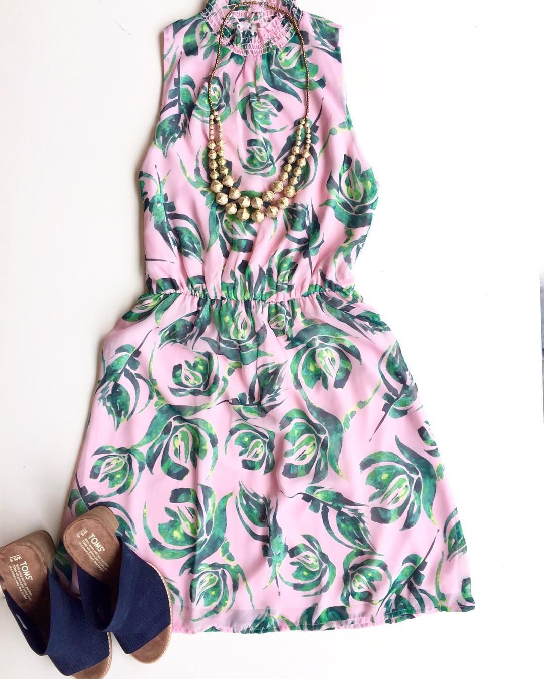 """This easy-breezy patterned dress is giving us Spring fever!  Come shop Spring dresses in-store. #shopwithpurpose"""