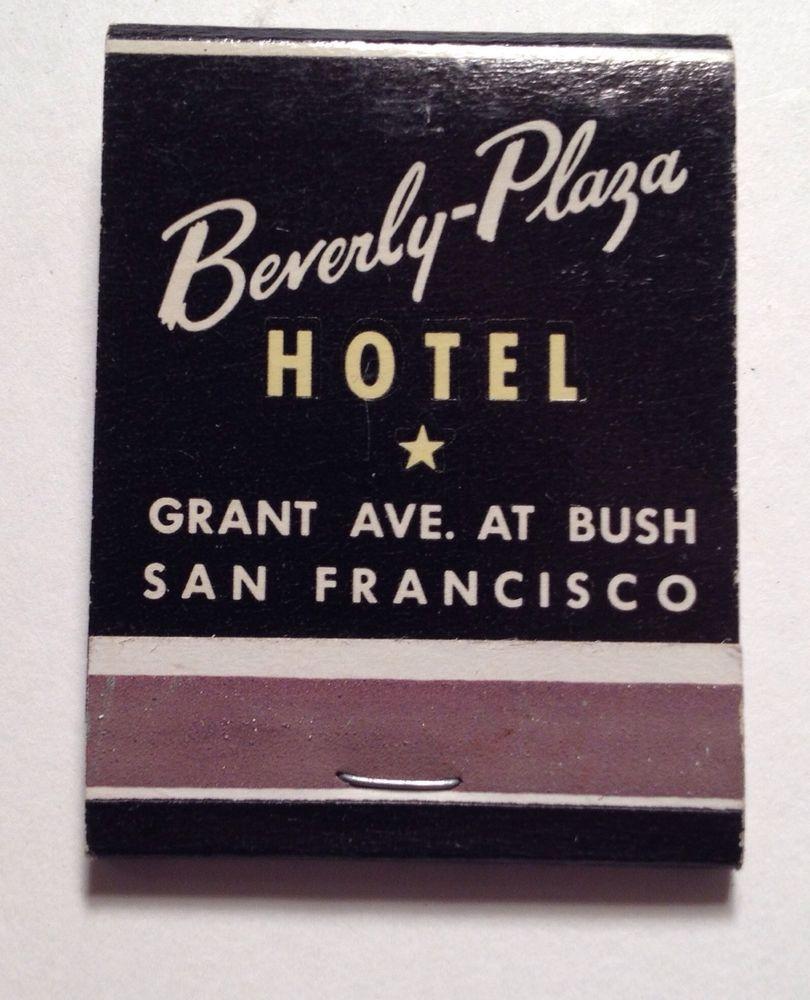 Vintage Matchbook The Beverly Plaza Hotel San Francisco CA