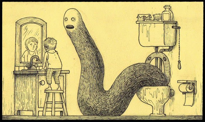 Don Kenn Post-it notes monsters