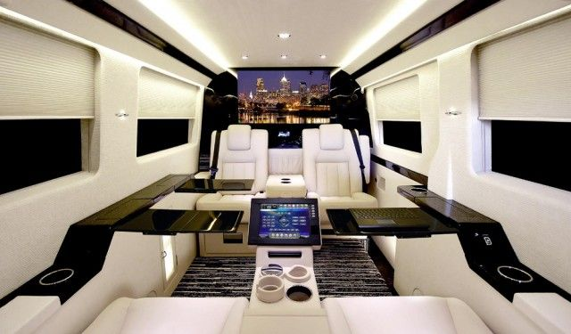 These Outwardly Sedate Vans With Wildly Elaborate Interiors Are The Work Of Becker Automotive Design Vehicles Masterfully Refurbished Innards