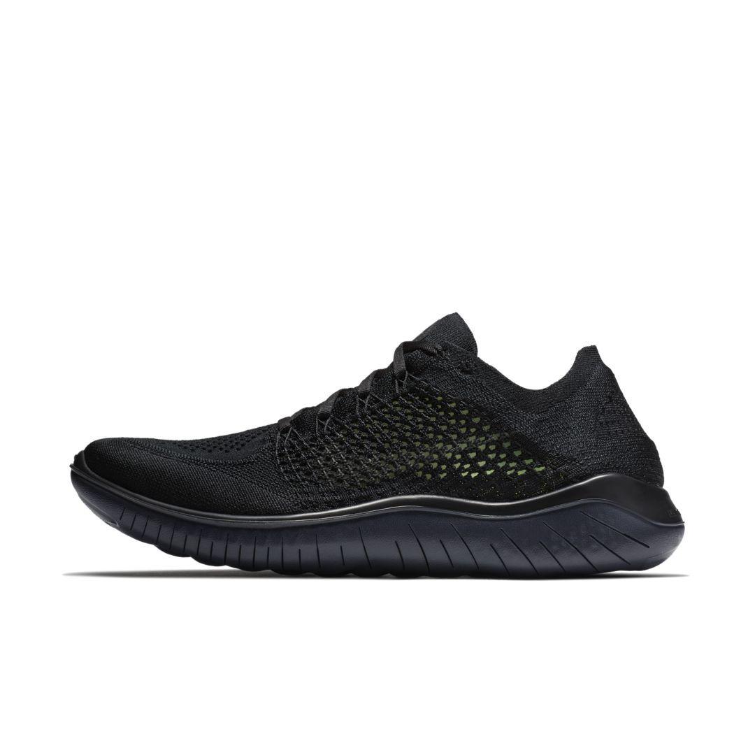 Free Rn Flyknit 2018 Men S Running Shoe In 2020 Running Shoes For Men Black Running Shoes Nike Free