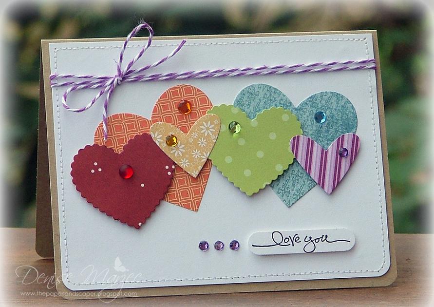 Скрап открытка с днем святого валентина