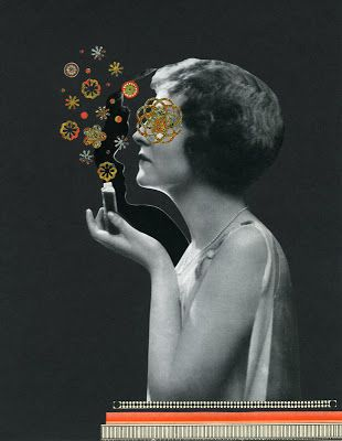 Descent of Madness, 2013.  Collage by Angelica Paez.