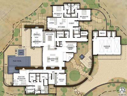 Interesting Floor Plans exceptional earth-walled home is a desert oasis | interior