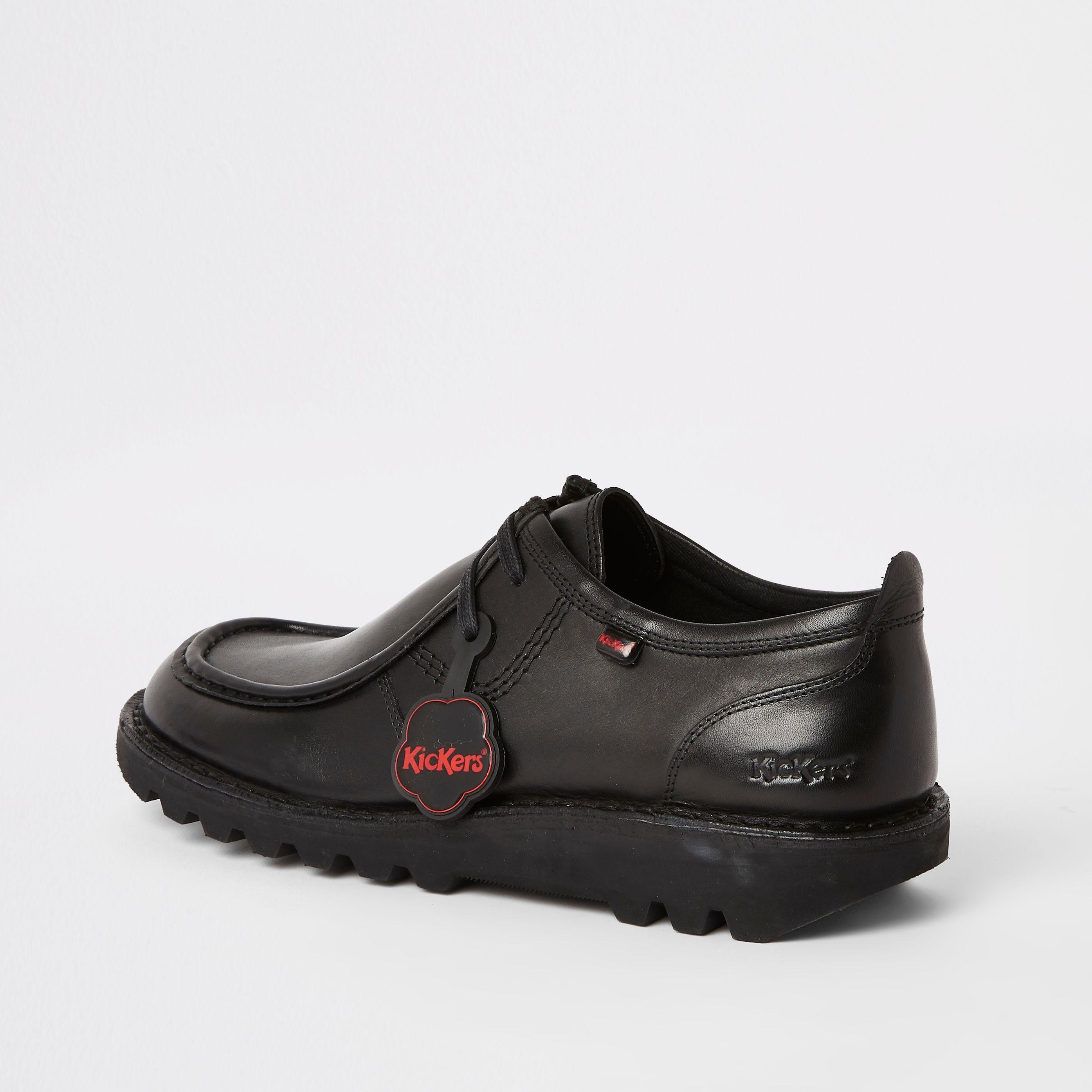 Mens River Island Kickers Black leather