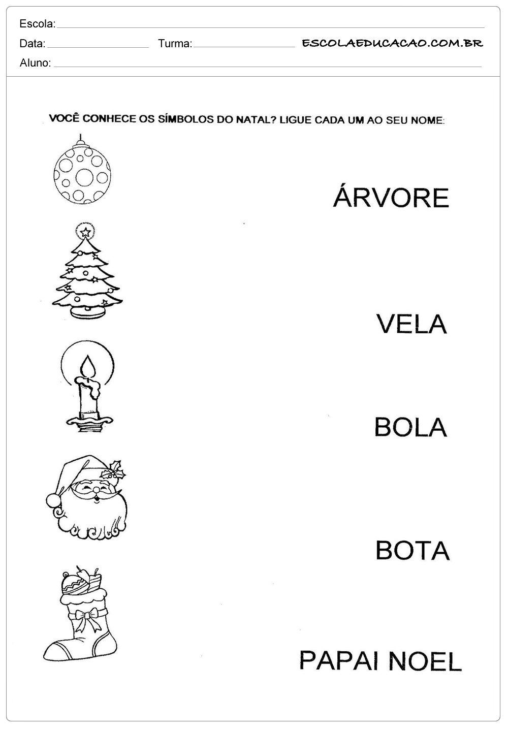 Simbolos De Natal Atividades Natal Educacao Infantil Atividades
