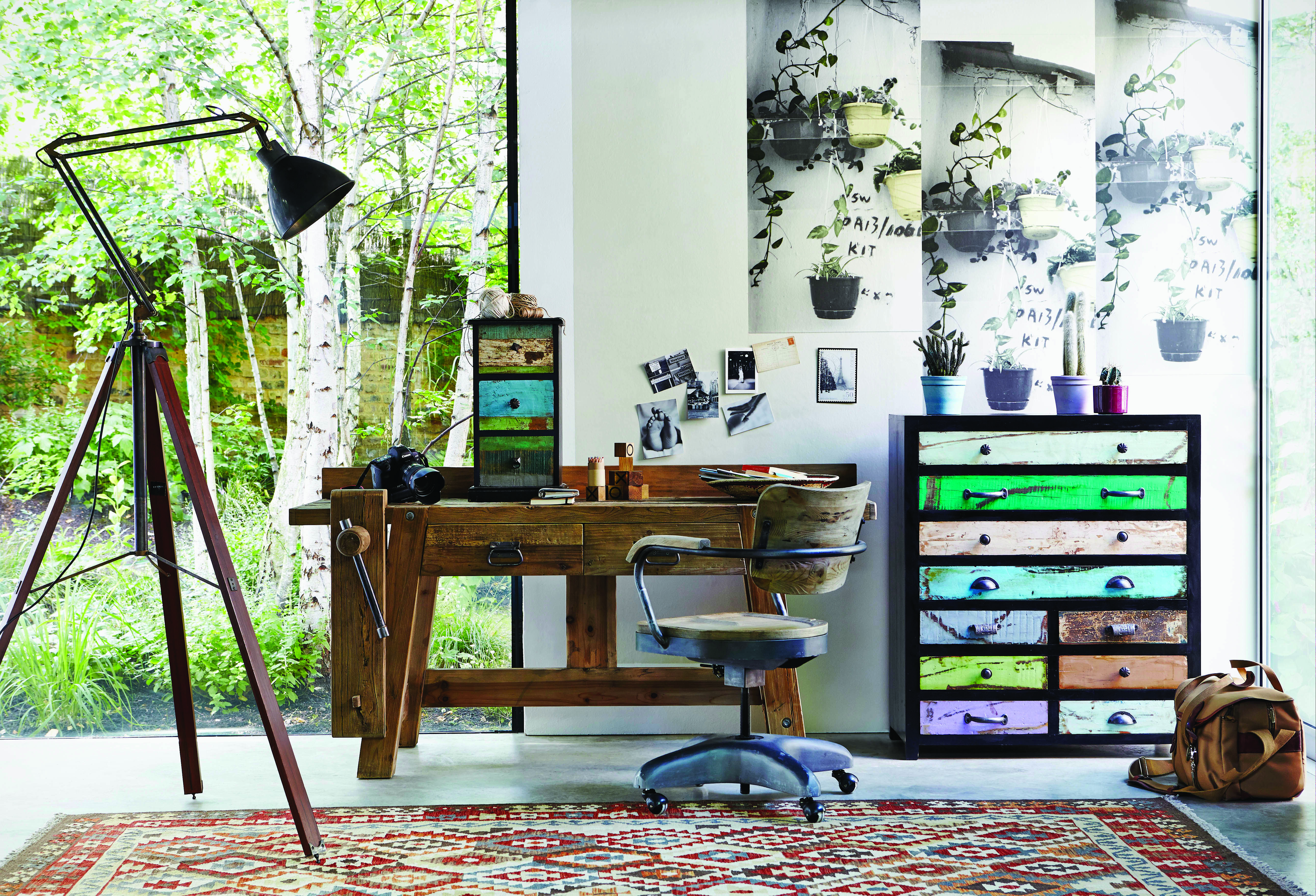 We ♥ this rustic work space look. | Home Design: Office | Pinterest