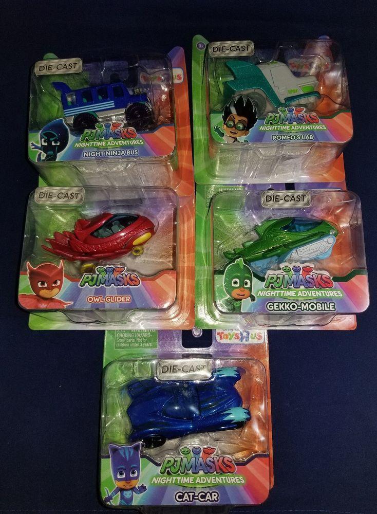 PJ Mask Die Cast Cars 5 Piece Set (Brand New) With Free