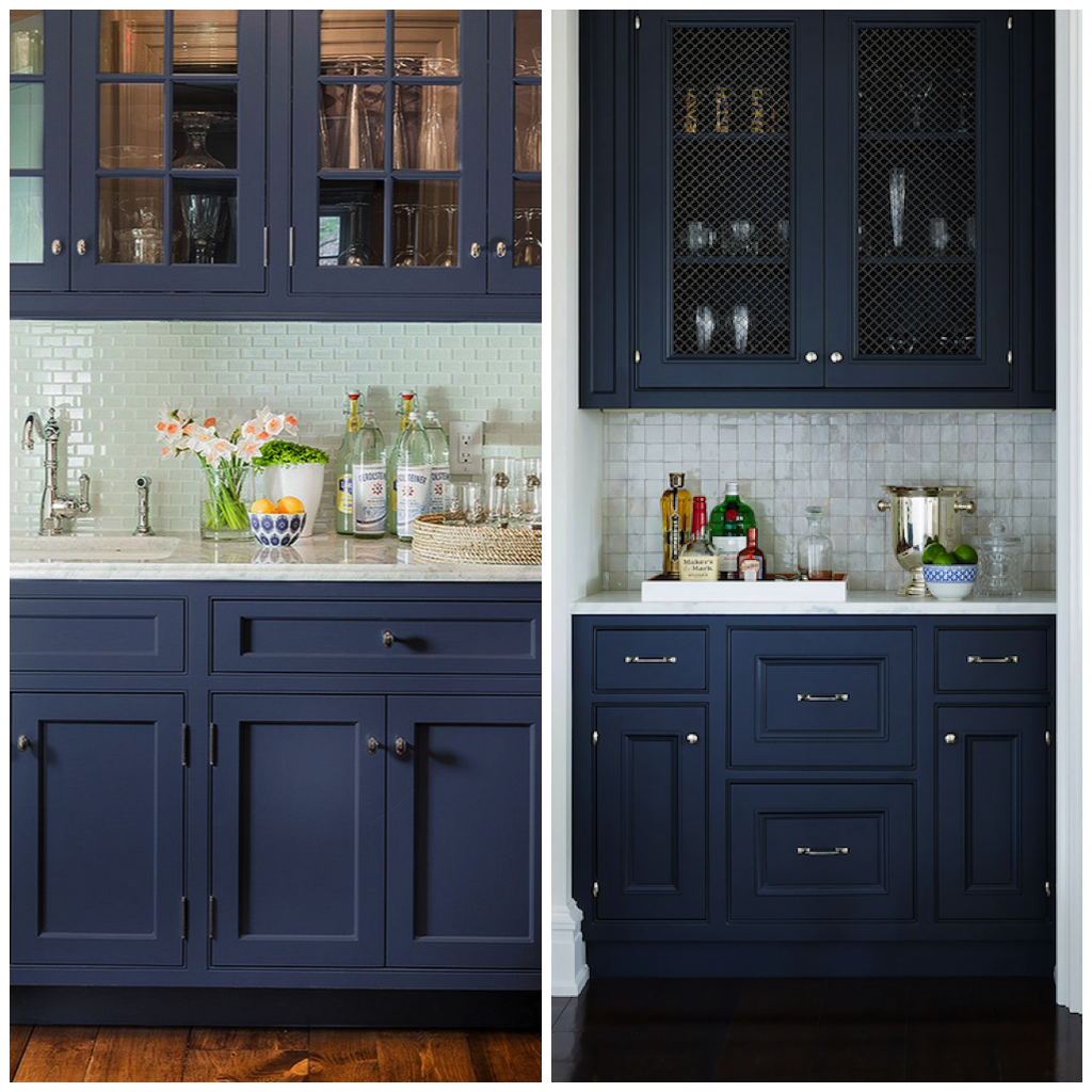 4 Ways To Use Navy Blue In Your Kitchen Big Chill Blue Kitchen Cabinets Navy Blue Kitchen Cabinets Blue Cabinets