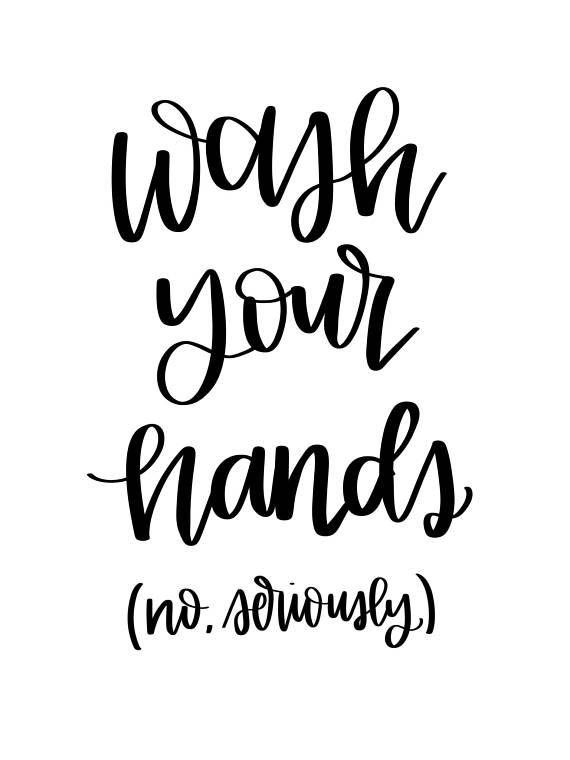 Wash Your Hands Digital Print Bathroom Print Digital