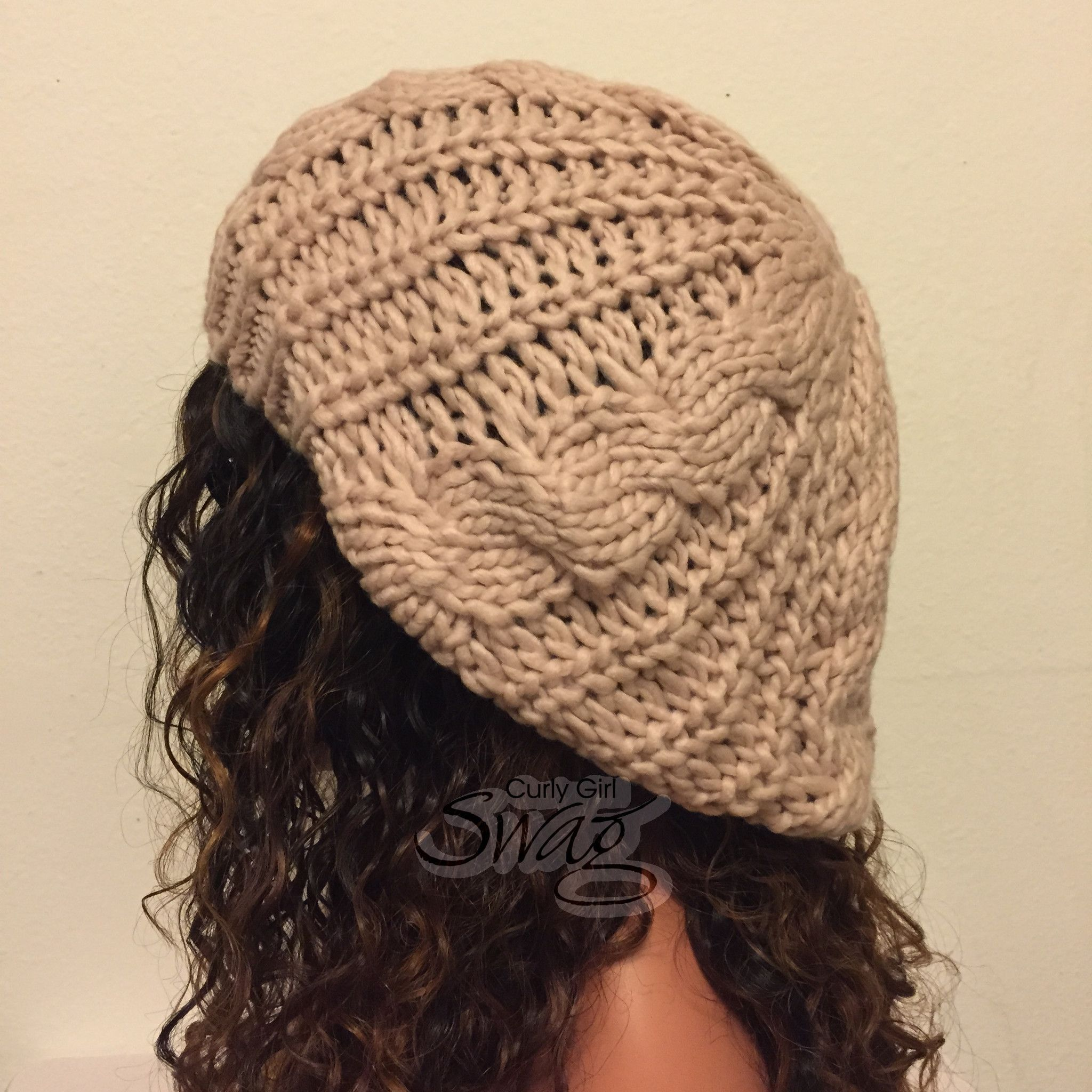 Jumbo Cable Knit Beret Beanie- More Colors Available