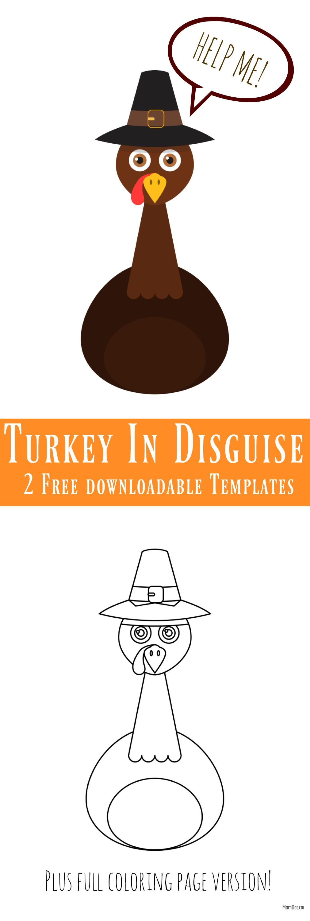 Disguise the Turkey Template , Free Downloadable Templates in color ...