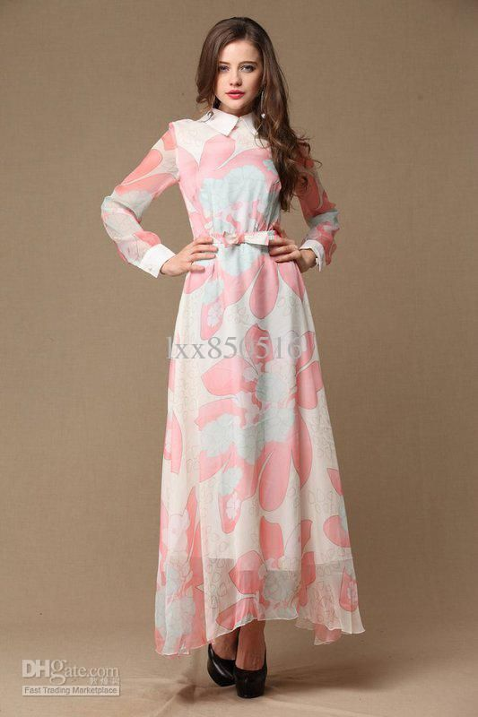 Long Sleeve Long Maxi Dress Photo Album - Reikian