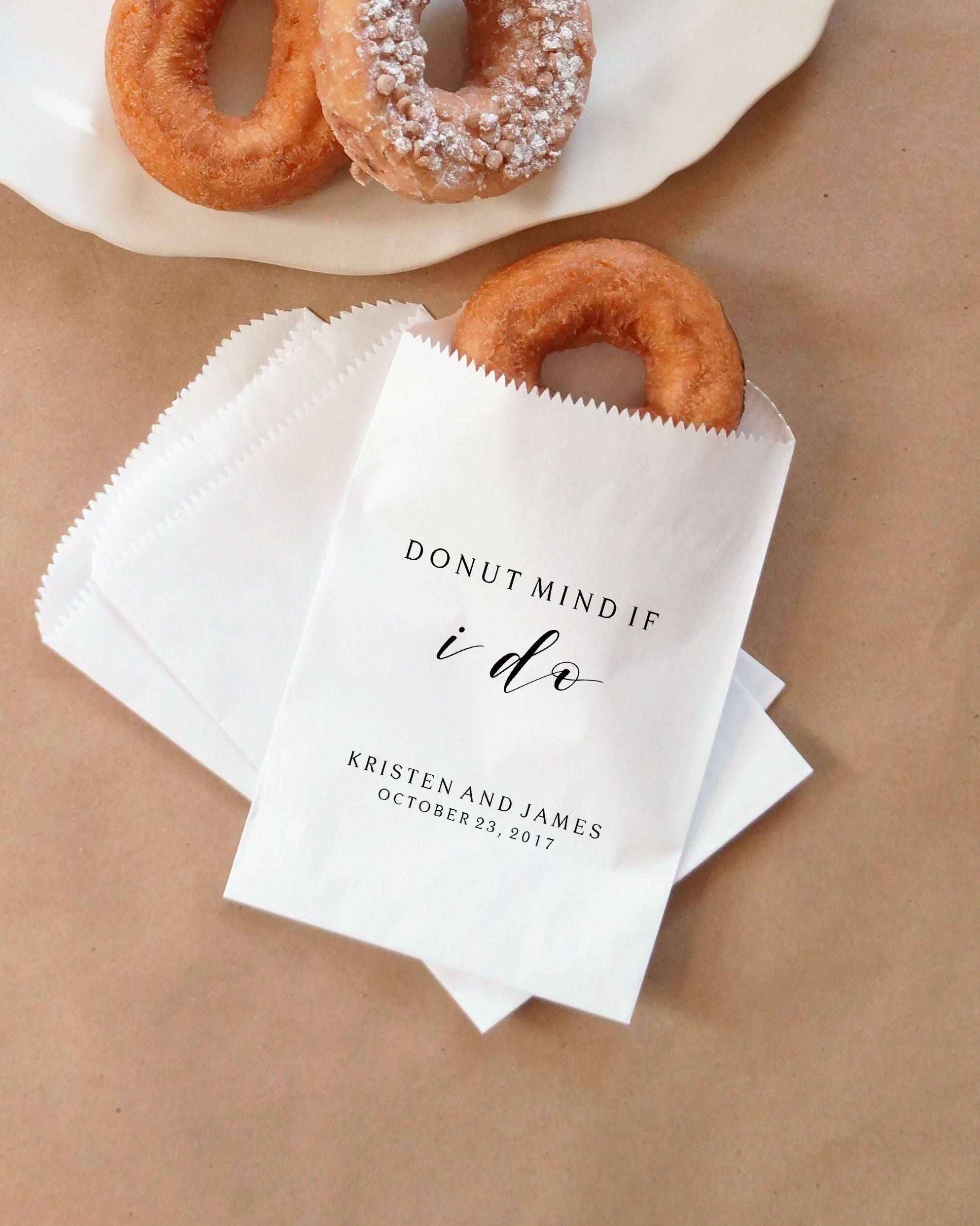 Donut mind if I do wedding favor bags! | Donut Favor Bags | Wedding ...
