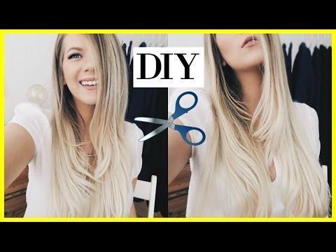 24) HOW TO CUT & LAYER YOUR OWN HAIR | Long Layers Tutorial ...