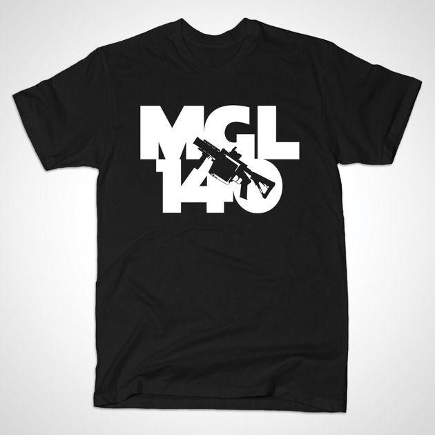 """MGL140"" - Firearms series tee 7 @ https://www.teepublic.com/show/8110-mgl140"