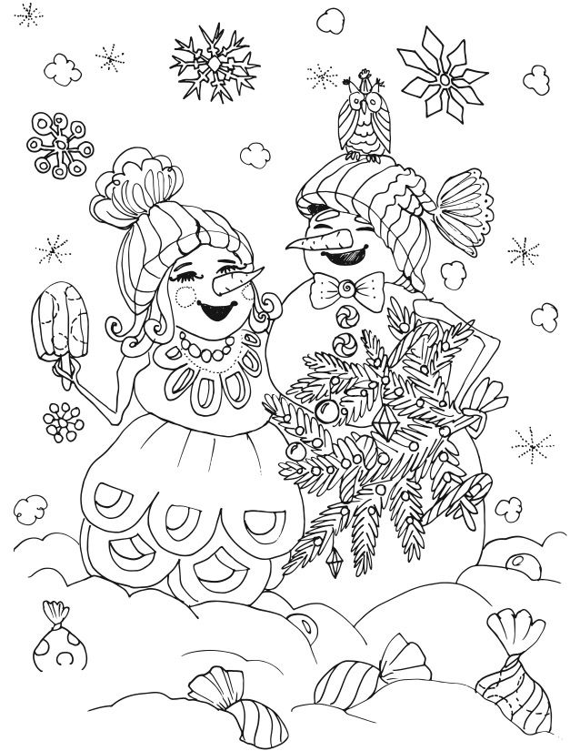 Christmas Color Page 1 By Artist Ekaterina Chernova Amazon | Adult ...