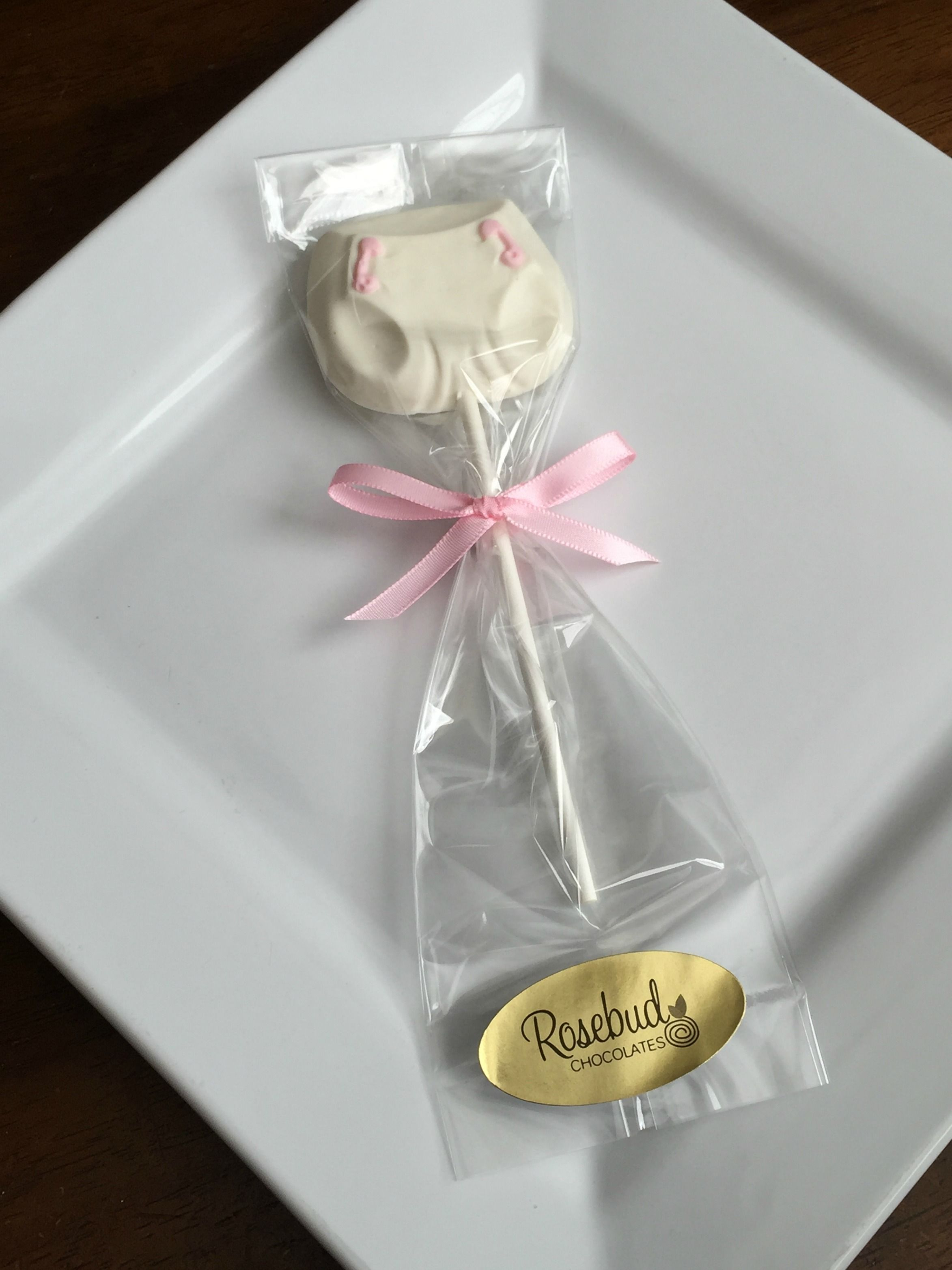 White Chocolate Baby Diaper Lollipop Favors, Baby Girl, Shower Ideas ...