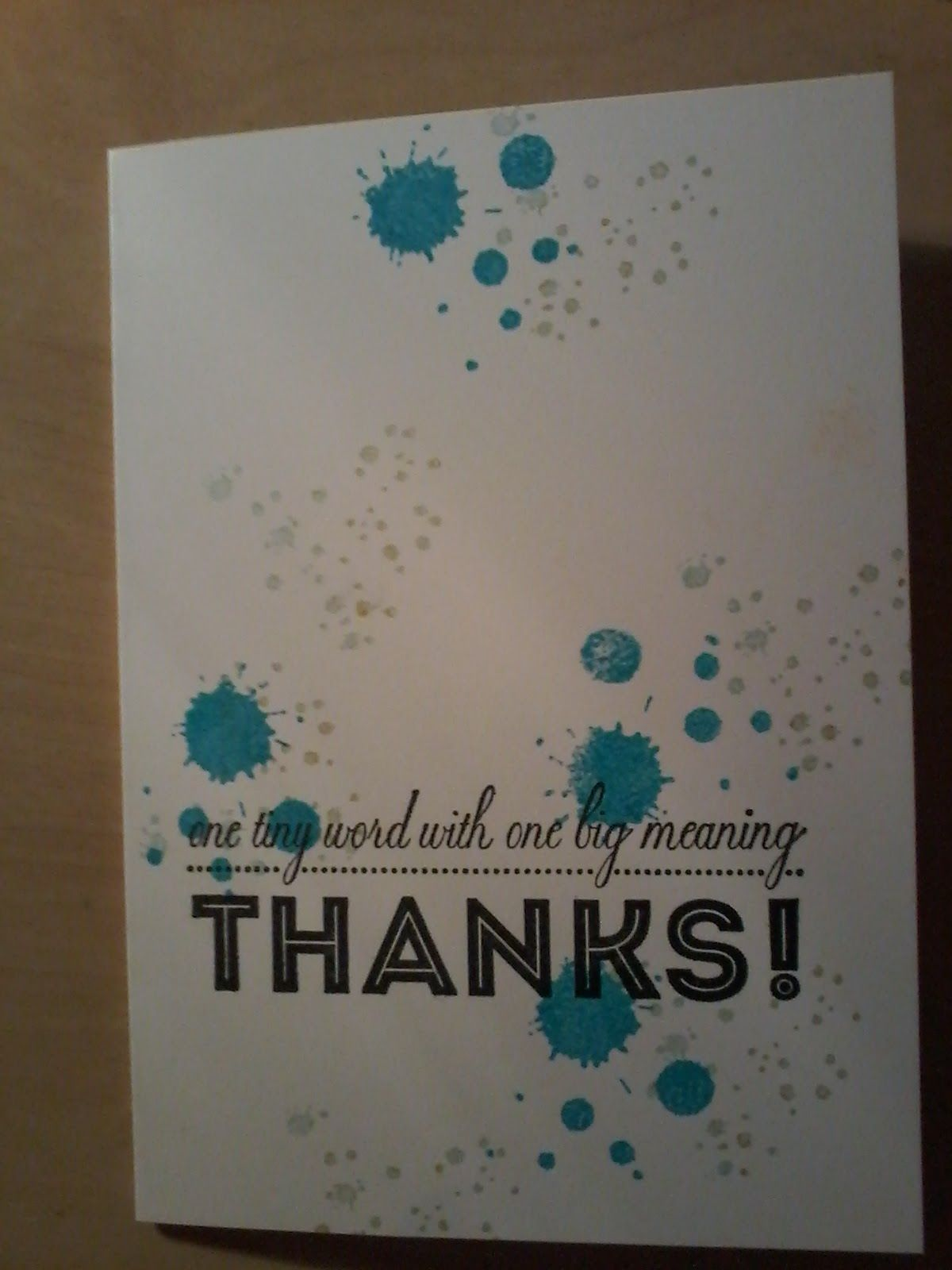 Thank you notes using One Big Meaning and Gorgeous Grunge from Stampin Up!