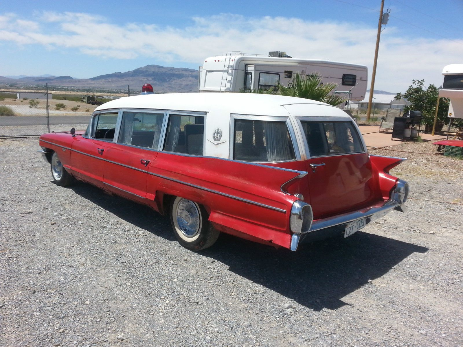 1962 cadillac miller meteor ambulance hearse combo for sale
