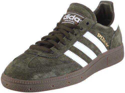 adidas Originals Mens Spezial Trainers 660273 Dark Olive/White/Gum 4 UK,  36.5 EU