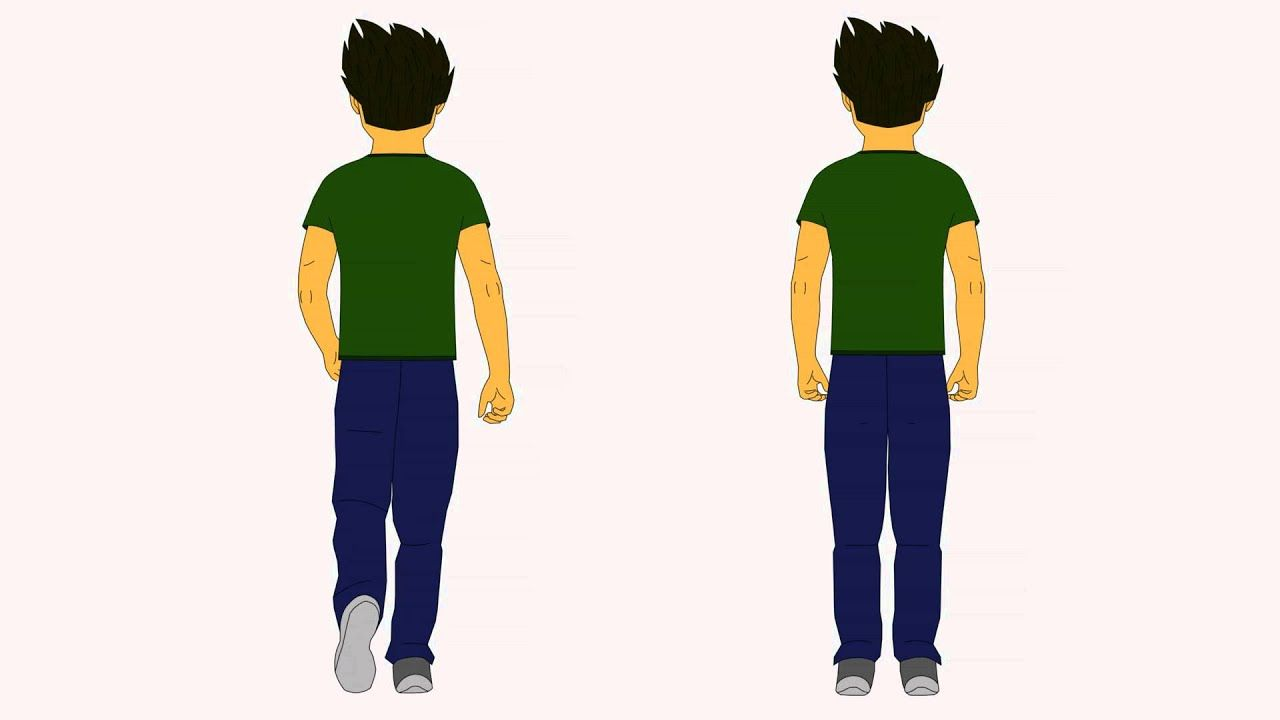 Male Character 1 Back View Stand Walk Cycle Walking Animation Animation Reference Run Cycle