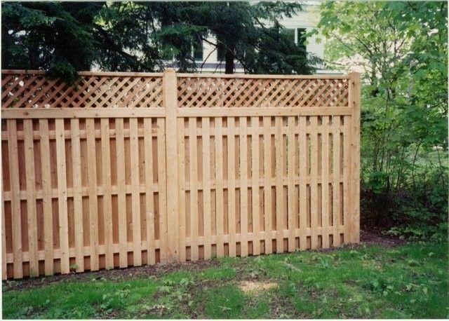 Shadow Box With Lattice Top Fence Design Privacy Fence Designs Shadow Box Fence